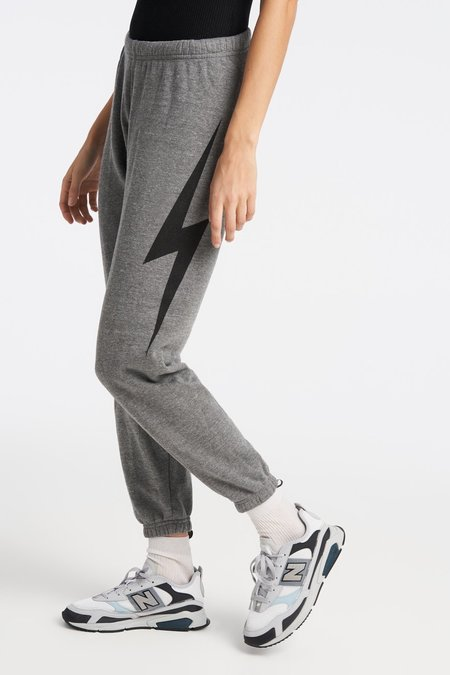 Aviator Nation Bolt Sweatpants - Heather Gray/Black