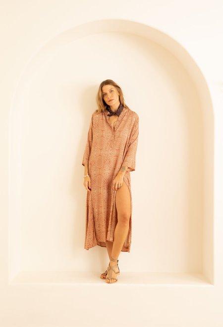 Natalie Martin Isobel Dress - Moroccan Tile Clay