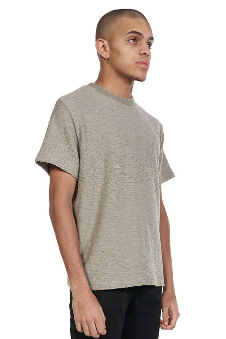 ANDERSSON BELL Short Sleeve Knit Top - grey