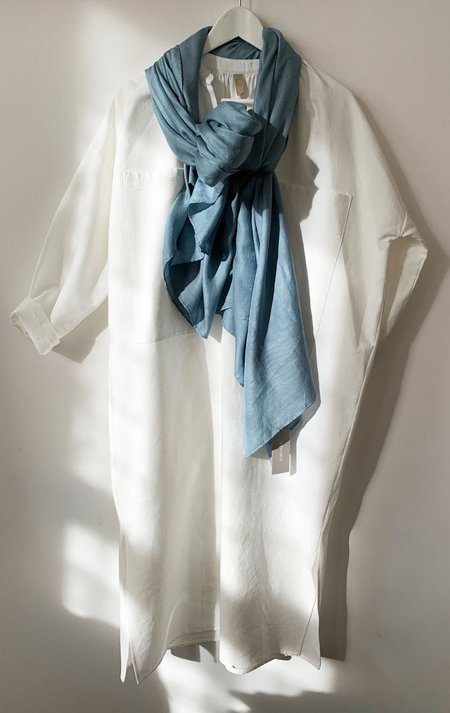 M.Patmos hand dyed silk scarf - Indigo