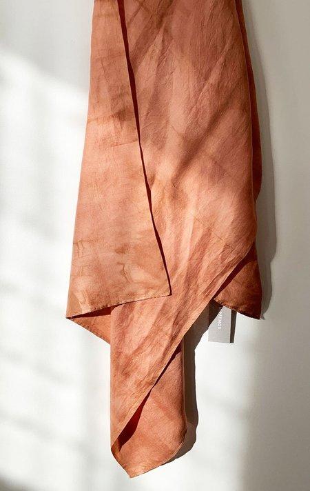 M.Patmos hand dyed silk scarf - Papaya