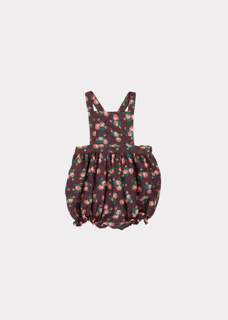 Kids Caramel Clam Baby Romper - Bright Floral