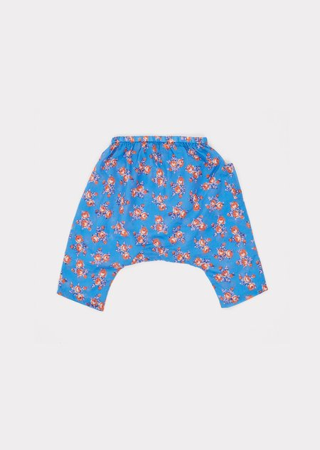 Kids Caramel Fluke Baby Trousers - Bright Floral Blue