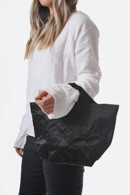 Zilla Medium Satin Shopper - Black