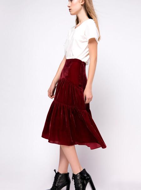 Series Noir Elle Skirt - Wine Red