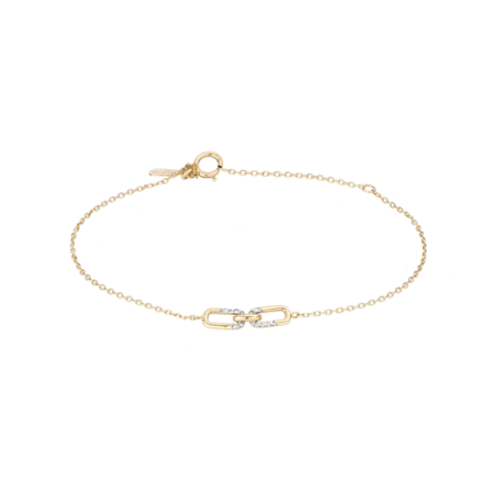 Adina Reyter Interlocking Link Bracelet - Gold