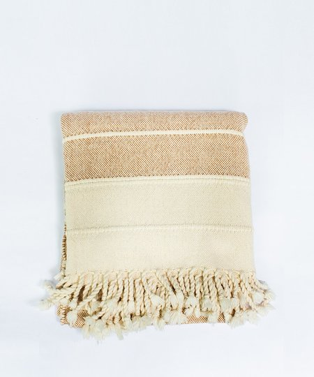 Ceri Hoover Thief And Moth Woven Blanket - Ochre/Natural