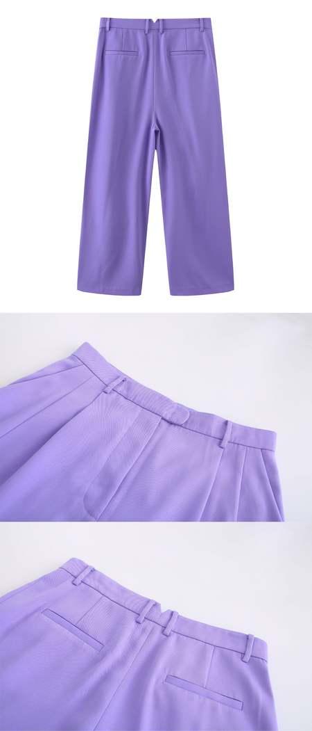 Matter Matters Hello Wide-leg Pants - Lilac