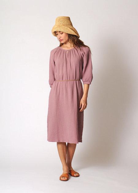 Conifer Reversible Gathered Dress  - Rose