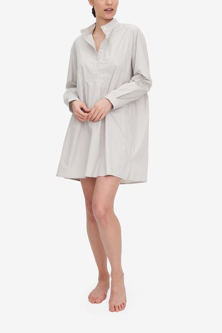 The Sleep Shirt Fog Washed Poplin Short Sleep Shirt - Gray