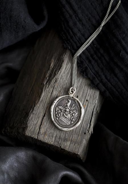 Pyrrha of The Wolf Talisman Necklace - Silver