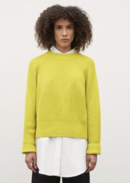 kowtow Henri Crew Sweater - Acid Yellow
