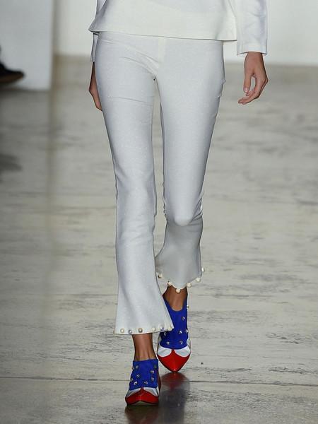 Anna K Kick-Flare Pants with Pearl Hem