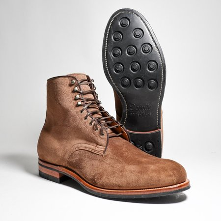 Viberg Derby CFS Bison Calf Suede Boots - Brown
