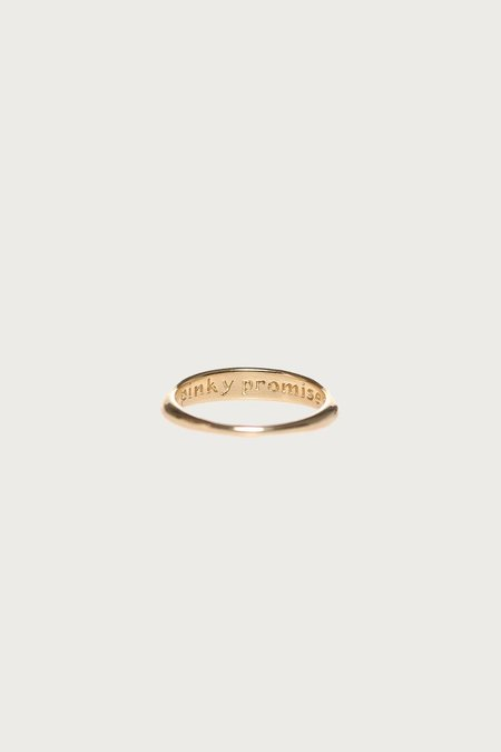 I Like It Here Club Pinky Promise Ring - Gold Plated