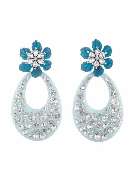 Dannijo Blossom Earrings - Blue