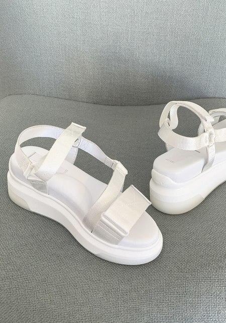 Suzanne Rae Velcro Sandal - White
