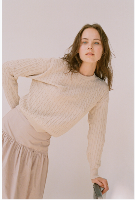 Wellington Factory Dylan Sweater - Natural