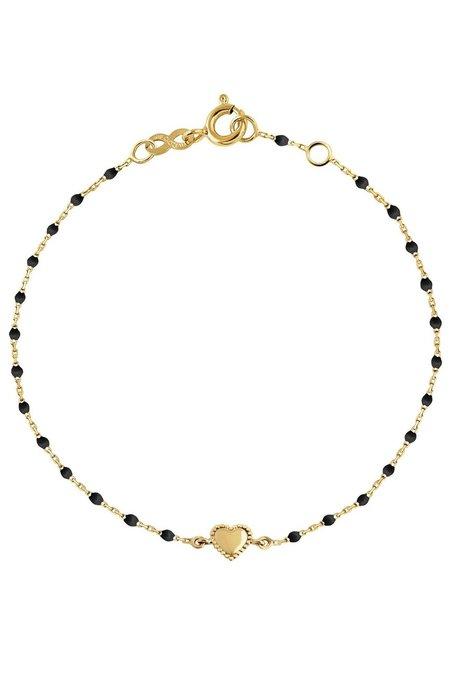 "Gigi Clozeau 6.7"" Mini Heart Gigi Bracelet - Black/Gold"
