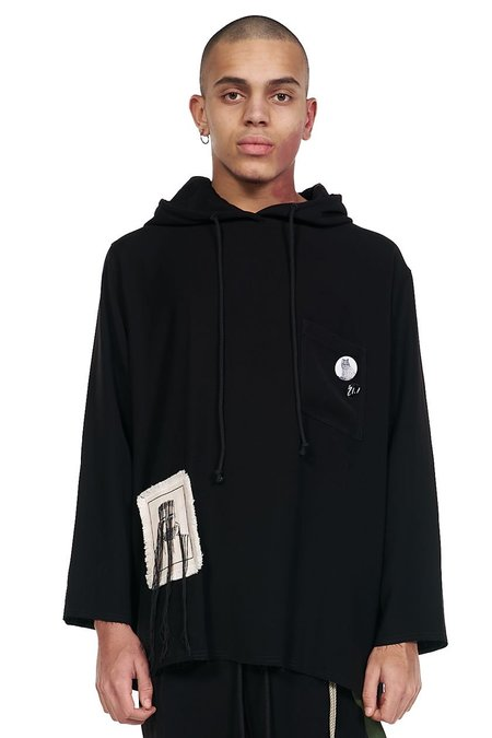 Song for the Mute Big Bird Raw Patch Pocket Hoodie