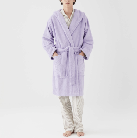 Unisex TEKLA Hooded Terry Bathrobe - Lavender