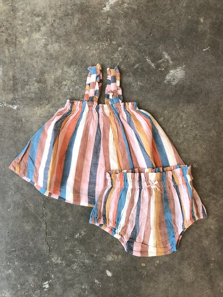 Kids Pink Chicken Emma 2-peice Set - Multi Stripe