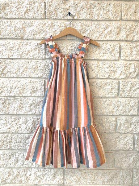 Kids Pink Chicken Emma Dress - Multi Stripe