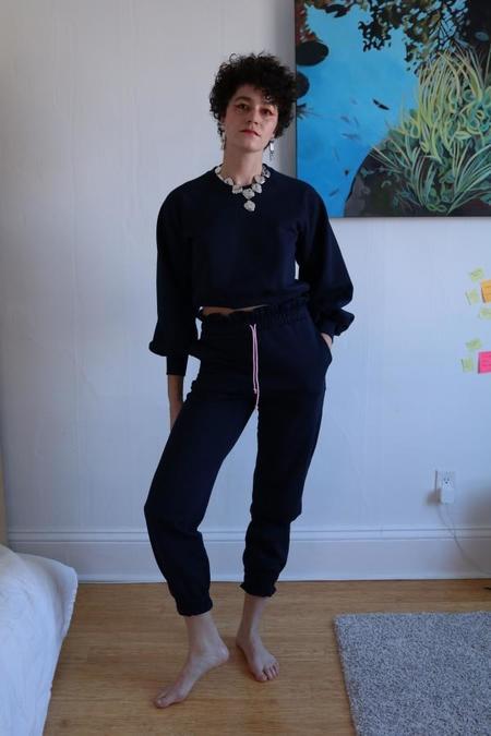 Hannah Isolde Ruffle Sweatpants - Navy