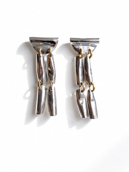 Michelle Ross Mari Earrings - Silver