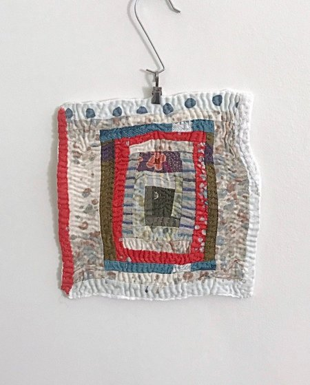 Debby Weiss Log Cabin #2 Textile Art