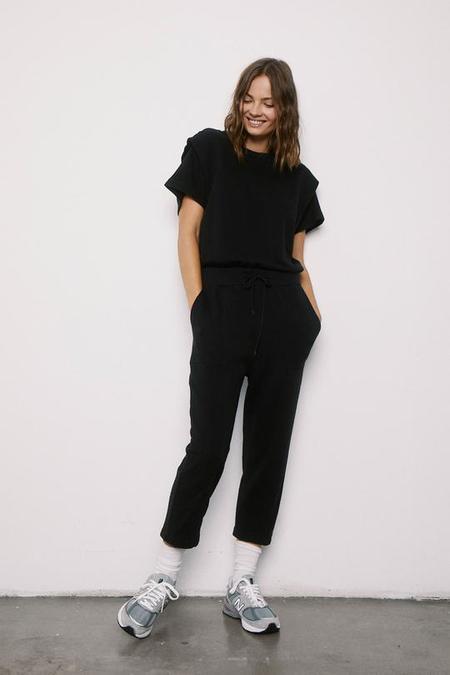 Pistola Clarisse French Terry Jumpsuit - Black