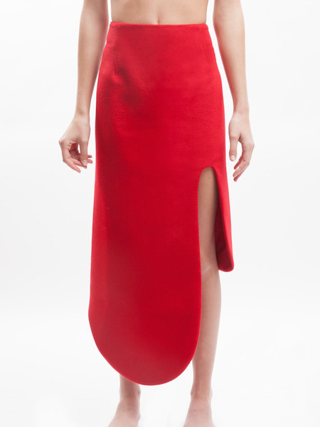 Karla Spetic Curve Contour Skirt