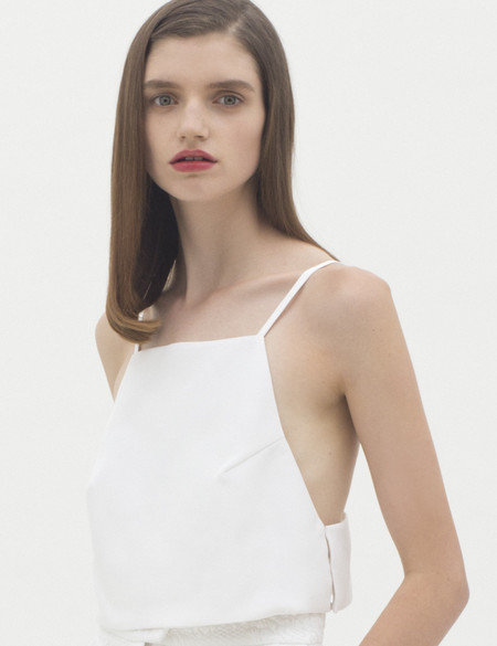 Karla Spetic Window Top - White