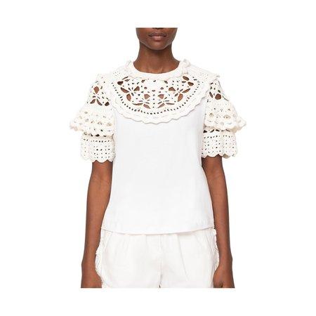 Sea NY Cleo Crochet Combo T-Shirt