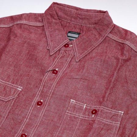 Momotaro Jeans 5oz Chambray Shirt - Red