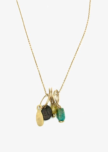 Agas & Tamar Gold Necklace With Charms