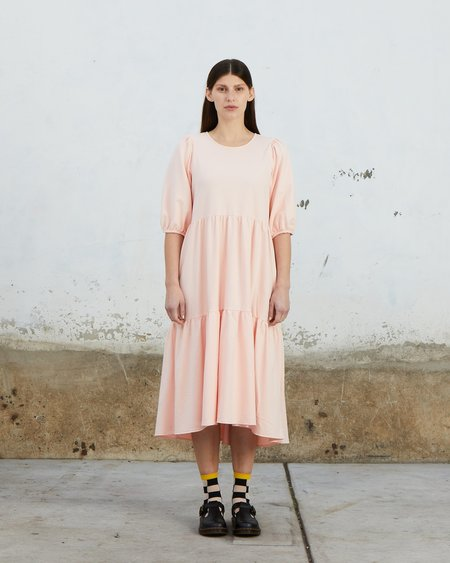 Ali Golden Knit Party Dress - Blush