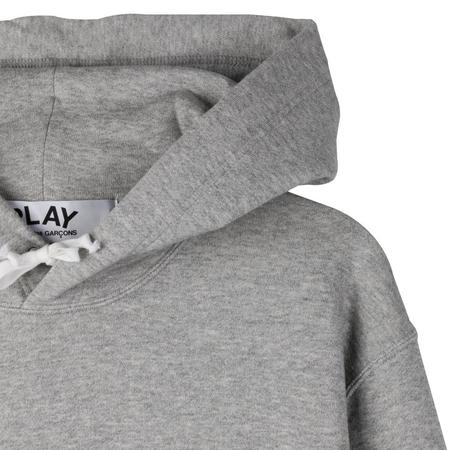 Comme des Garçons Play Red Heart Pullover Hoodie - Grey
