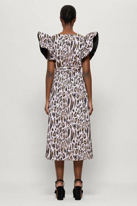 Baum und Pferdgarten Addison Dress - Primrose Leopard Jacquard