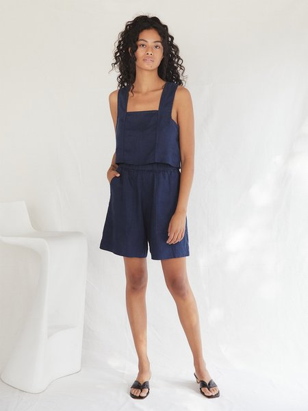 Sugar Candy Mountain The Pansy Top - Navy
