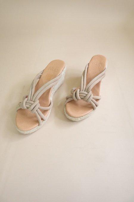 polka shoes Lua Espadrille Wedge Slide Sandal - Sand