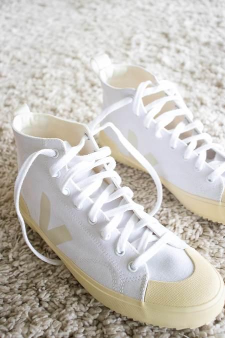 Veja Nova-HT Canvas Sneakers - White/Butter Sole