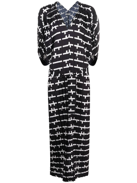 Henrik Vibskov Jelly Plissé Dress - black/white