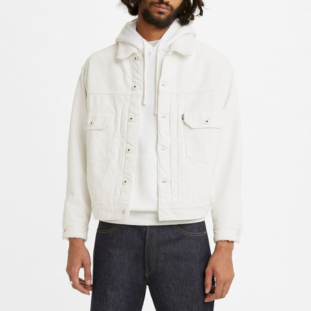 Levi's Made & Crafted Oversized Type II Trucker Down Hill JACKET  - WHITE