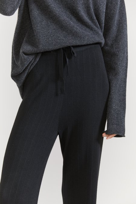 Laing Home Ludo Ribbed Knit Pant - Black