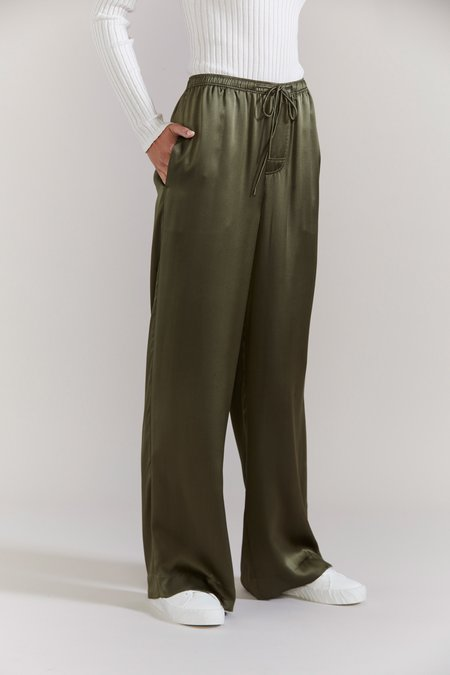 Laing Home Sachi Silk Pant - Forest