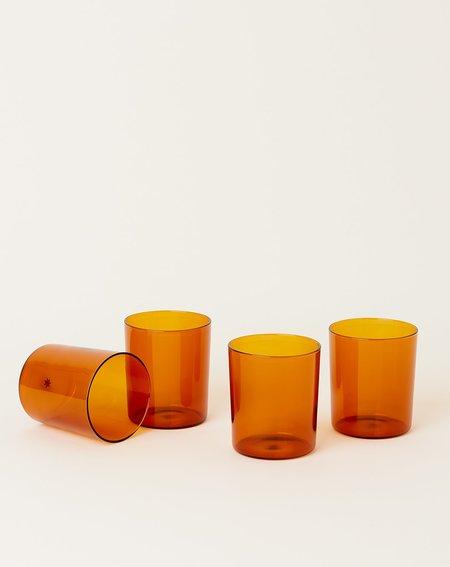 Maison Balzac Set of 4 Goblets -  Amber