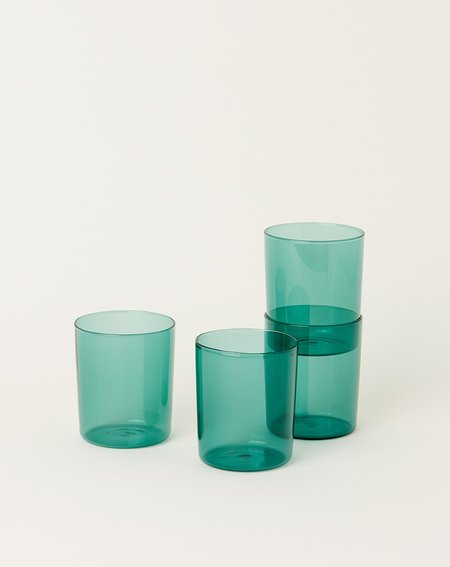 Maison Balzac Set of 4 Goblets Glasses - Teal