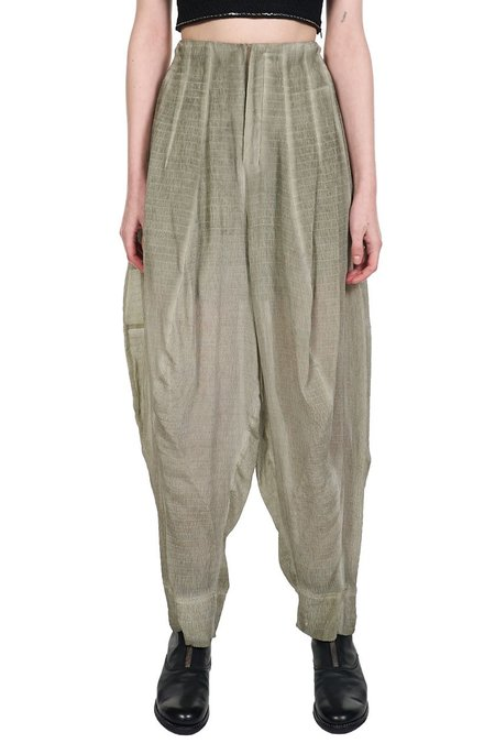 Phaedo High Rise Tapered Stretch Silk Trousers - grey