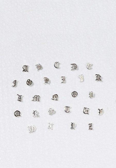 Meadowlark Capital Letter Stud Earring - silver